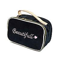 Кейс-косметичка жіноча текстиль чорний Арт.7089 (Китай)