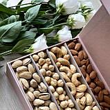 Подарочный набор орехов в прямоугольной коробке на магните, фото 2