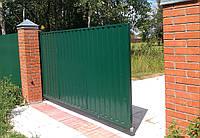 Сдвижные ворота установка