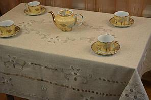 Скатертина  лляна  з  вишивкою ,100*150 см