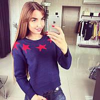 Женский свитер со звездами DB-133