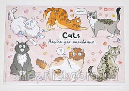 """Альбом для рисования 20 л, A4, скоба + перфорац, ГЛИТТЕР """"Magika"""" / Cats"""