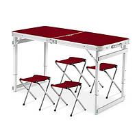 Стол Усиленный для пикника с 4 стульями Folding Table HEAVY (60х120 cм) (1шт)