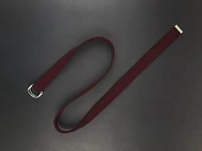 Ремінь унісекс бавовняний від бренду SOX бордового кольору