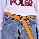 Трендовый пояс от бренда SOX репсовый оранжевого цвета, фото 2