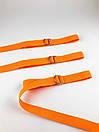 Трендовый пояс от бренда SOX репсовый оранжевого цвета, фото 3