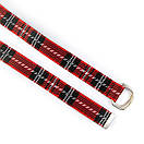 Ремінь текстильний SOX в шотландську клітку червоно-чорний, фото 2