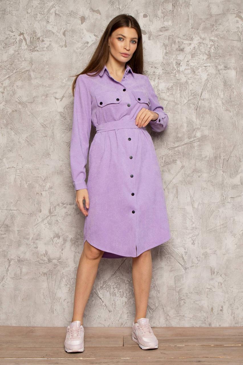 Сукня-сорочка NENKA 3027-c09 M Ліловий