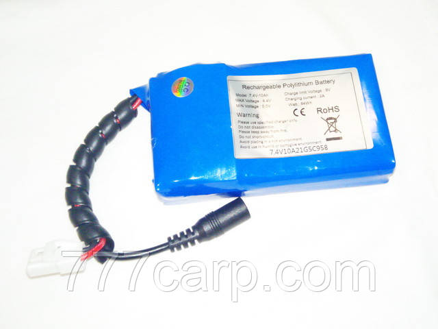 Литиевый аккумулятор 7,4 в-10 а/ч АКБ для карпового прикормочного кораблика Actor 10А-5А