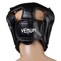 Боксерский шлем закрытый Venum Flex XL черный (VM-475/XLBL), фото 2