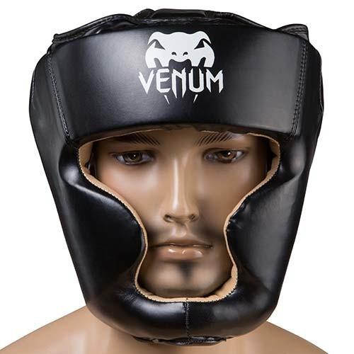 Боксерский шлем закрытый Venum Flex XL черный (VM-475/XLBL)