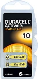 Батарейки для слуховых аппаратов Duracell Activair Box 10 MF, 6 шт.