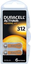 Батарейки для слухових апаратів Duracell Activair Box 312 MF, 6 шт.