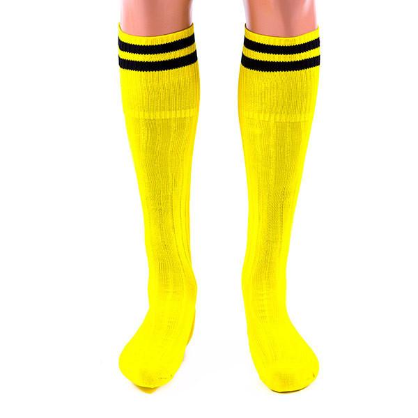 Гетри World Sport жовті 34-39, х/б+ нейлон+ еластан (N022Y)