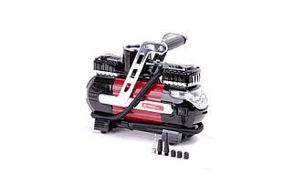 Миникомпрессор автомобільний Intertool - 12В x 7 bar x 40 л/хв, двухпоршневой (AC-0003), (Оригінал)