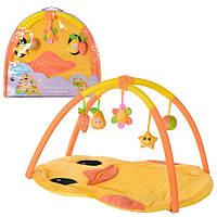 Коврик для младенца T203-D1194  цыпленок,94-79см,дуги 2шт,подвески плюш 5шт,в сумке,66-58-7см