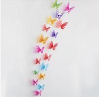 "Наклейка на стену ""12шт. 3D бабочки наклейки ""love"""