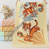 Махровое кухонное полотенце Тигр с мячиком (20)
