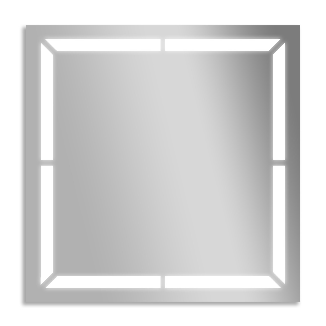Зеркало для ванной влагостойкое с подсветкой 60 х 70 см ф10