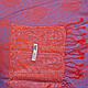 Женский интересный двусторонний палантин из пашмины 179 на 69 см ETERNO (ЭТЕРНО) ES0206-2-red-grey, фото 2