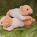 Плед іграшка подушка 3в1 Собачка | Іграшка дитячий плед | Іграшки-Подушки | М'яка іграшка Хаскі Помаранчевий, фото 4