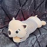 Плед іграшка подушка 3в1 Собачка | Іграшка дитячий плед | Іграшки-Подушки | М'яка іграшка Хаскі Помаранчевий, фото 8