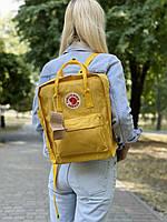 Рюкзак унісекс жовтого кольору. Рюкзак стильний жовтий колір.