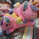 Плед игрушка подушка 3в1 Единорог | Игрушка детский плед | Игрушки-Подушки | Мягкая игрушка Голубого цвета, фото 5
