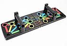 Доска для отжиманий Foldable Push Up Board 14 в 1 + Подарок тканевая фитнес резинка, фото 3