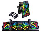 Доска для отжиманий Foldable Push Up Board 14 в 1 + Подарок тканевая фитнес резинка, фото 5