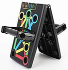 Доска для отжиманий Foldable Push Up Board 14 в 1 + Подарок тканевая фитнес резинка, фото 7