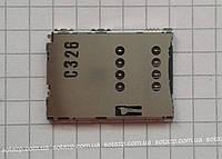 Коннектор SIM-карты для мобильных телефонов Samsung I5700 Galaxy Spica, I5800 Galaxy 580, S5620 Monte, S5628