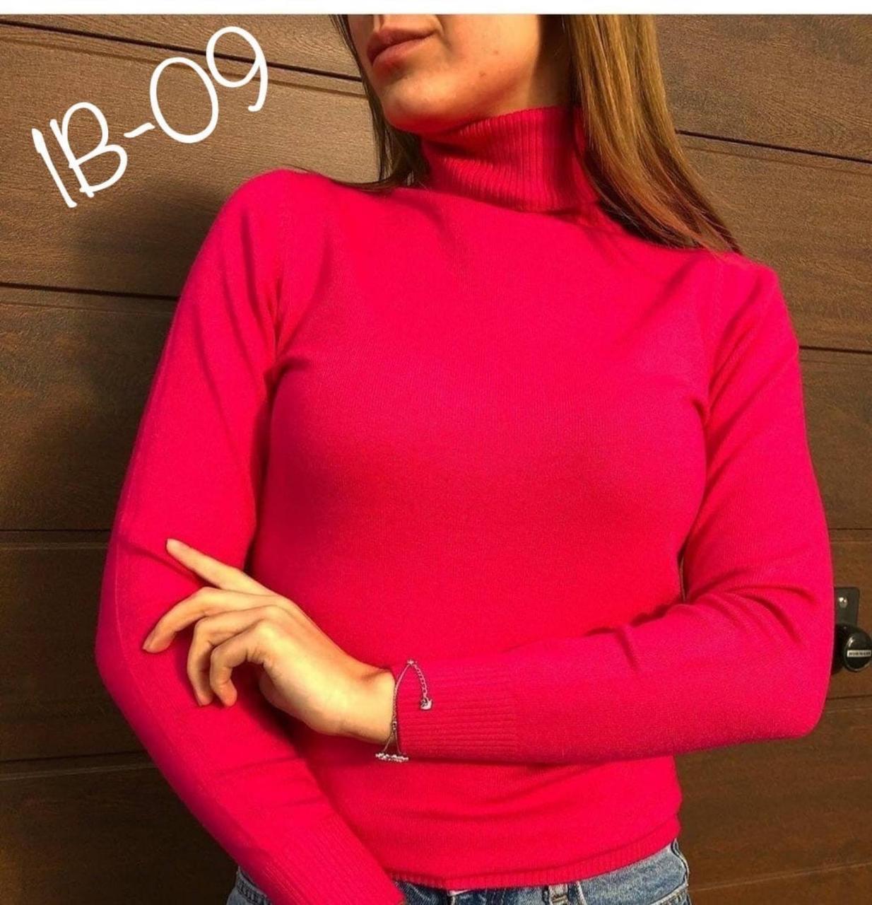 Розовый кашемировый базовый женский гольф