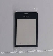Стекло корпуса для мобильного телефона Nokia 515 Dual Sim,  чёрное