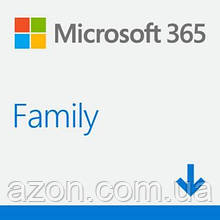 Офісне додаток Microsoft 365 Family 32/64 AllLngSub PKLic 1YR Online CEE Конверт (6GQ-00084-ESD)