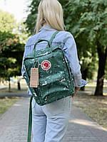 Рюкзак унісекс зеленого кольору з принтом. Рюкзак стильний зелений колір.