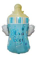 Фольгированный шар фигурный Бутылочка голубая, 80 см