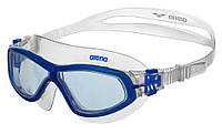 Очки (полумаска) для плавания ARENA ORBIT UNISEX (прозрачные линзы, белая и голубая оправа)