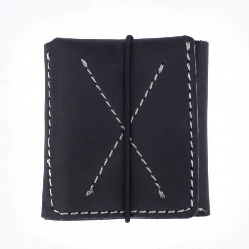 Мужской кожаный тонкий бумажник Black Brier П-3-35 черное