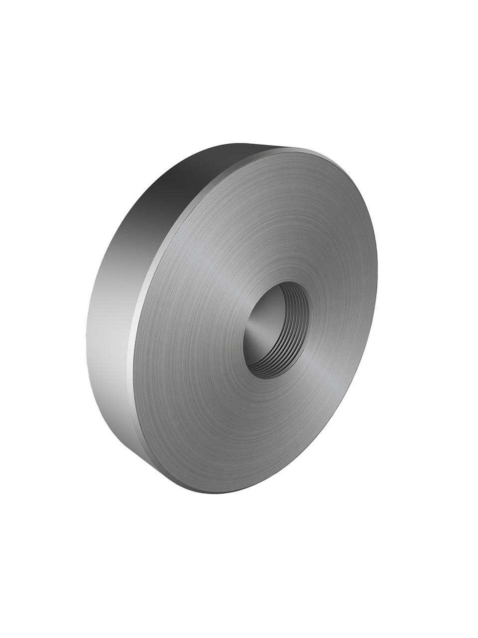ODF-06-38-01 Коннектор круглый прижимной без отверстий d50 M10, для стеклянного ограждения, сатин