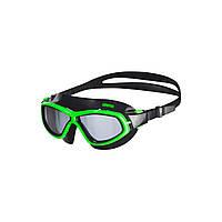 Очки (полумаска) для плавания ARENA ORBIT UNISEX (дымчатые линзы, черная и зеленая оправа)