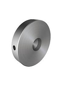 ODF-06-27-01 Конектор круглий притискної d50 M10, з отвором збоку, для скляного огородження, сатин