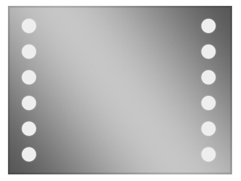 Зеркало для ванной с подсветкой 65 x 80 см ф10 мм