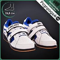 Распродажа! Штангетки-кроссовки для пауэрлифтинга и тяжелой атлетики ZELART PU Белые (OB-1266)42