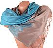 Женский изысканный двусторонний палантин из пашмины 180 на 72 см ETERNO (ЭТЕРНО) ES0406-10-4
