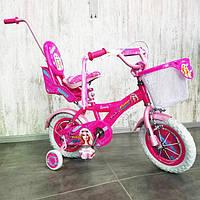 Детский двухколесный велосипед с родительской ручкой Beauty-1 12 дюймов для девочек от 2 до 5 лет