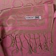 Женский розовый двусторонний палантин из пашмины 172 на 70,5 см ETERNO (ЭТЕРНО) ES0406-8-29, фото 2