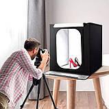 Фотобокс для предметной съемки Световой Фотокуб Складной лайткуб размеры 60x60x60, фото 2