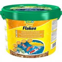 Корм для прудовых рыб Tetra POND FLAKES 10 л смесь хлопьев для мелких рыб