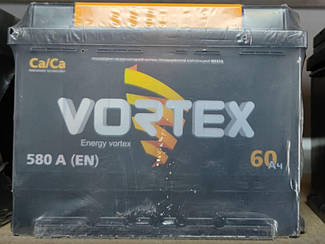 Акумулятор Vortex 60A 580En (- +)